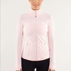 Lululemon Define jacket pale pink/white size 6
